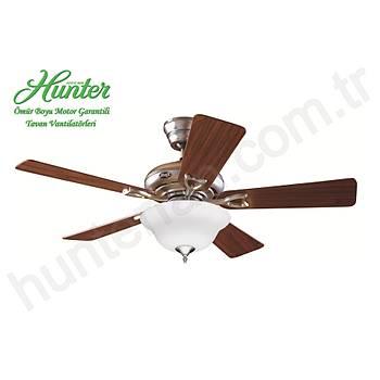 Hunter - Seville Mat Metal - 112 Cm. Beyaz Çukur Tabak Aydýnlatmalý Tavan Vantilatörü