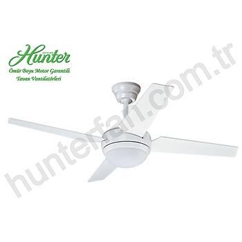 Hunter - New Sonic Beyaz - 132 Cm. Aydýnlatmalý Tavan Vantilatörü