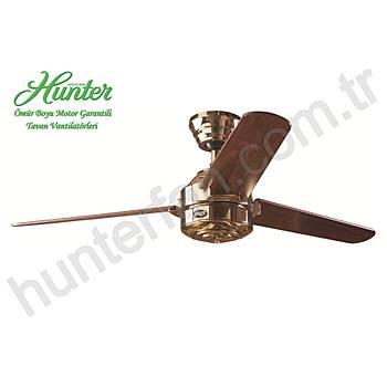 Hunter - Carera Parlak Pirinç - 132 Cm. Tavan Vantilatörü