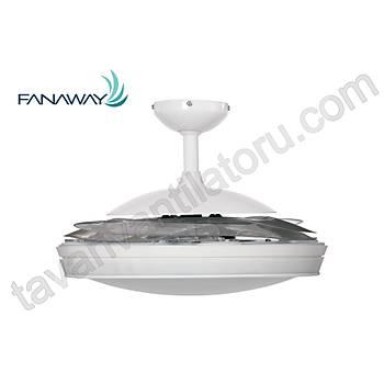 Fanaway Evo 2 Endure Beyaz - 121 Cm. Aydýnlatmalý Kanatlarý Gizlenen Tavan Vantilatörü