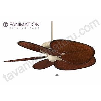 Fanimation - Belleria Latte - 137 Cm. Kýzýl Renk Bambu Örme Kanatlý Dýþ Mekan Tavan Vantilatörü