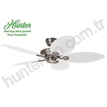 Hunter - Outdoor Elements II Alüminyum - 137 Cm. Beyaz Plastik Kanatlý Dýþ Mekan Tavan Vantilatörü
