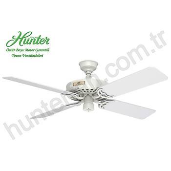 Hunter - Classic Original Beyaz - 132 Cm. Beyaz Kanatlý Dýþ Mekan - Nemli Mekan Tavan Vantilatörü