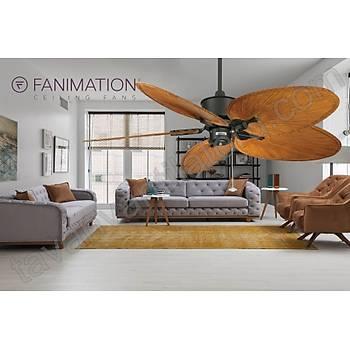 Fanimation - Islander Mat Siyah -  132 Cm. Kompozit Palmiye Kanatlý Tavan Vantilatörü