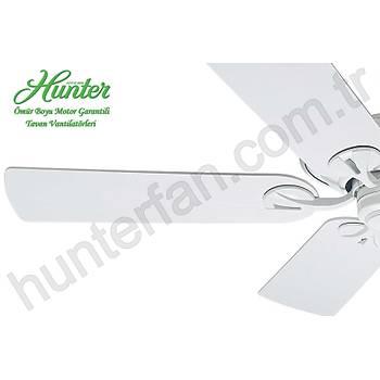 Hunter - Maribel Beyaz - 132 Cm. Dýþ Mekan - Nemli Mekan Tavan Vantilatörü