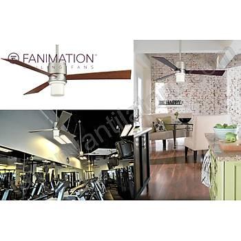 Fanimation - Zonix Satin Nikel - 137 Cm. Aydýnlatmalý Tavan Vantilatörü