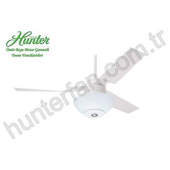 Hunter - Cabo Frio Beyaz - 132 Cm. Ýç Mekan Beyaz Çukur Tabak Aydýnlatmalý Tavan Vantilatörü