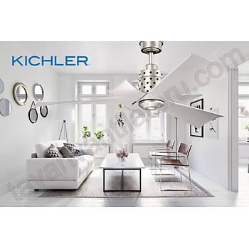 Kichler - Frey DC Fan Fýrçalanmýþ Nikel - 132 Cm. Tavan Vantilatörü