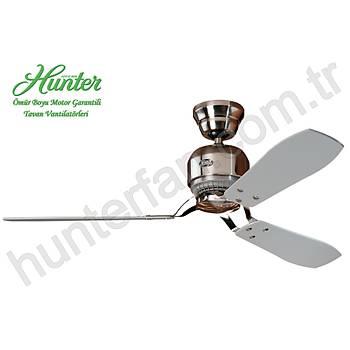 Hunter - Industrie Fýrçalanmýþ Nikel - 132 Cm. Tavan Vantilatörü