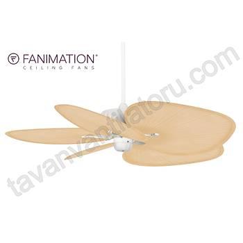 Fanimation - Belleria Mat Beyaz - 132 Cm. Düz Renk Plastik Palmiye Kanatlý Dýþ Mekan Tavan Vantilatörü