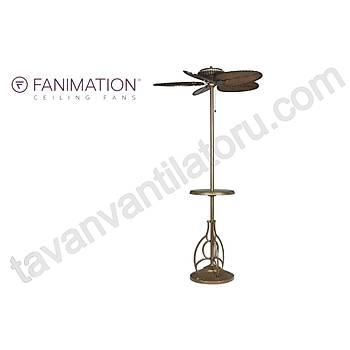 Fanimation - The Torrento 132 Cm. Ayaklý Bambu Örme Kanatlý Bahçe Vantilatörü