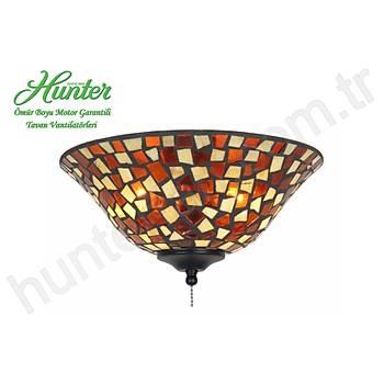Kehribar/Kahverengi Mozaik Çukur Tabak