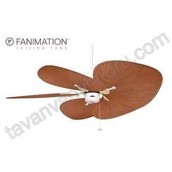 Fanimation - Islander Mat Beyaz - 132 Cm. Palmiye Kanatlý Tavan Vantilatörü