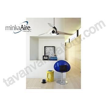 Minka Aire - Artemis Liquid Nickel - 147 Cm. Aydýnlatmalý Tavan Vantilatörü