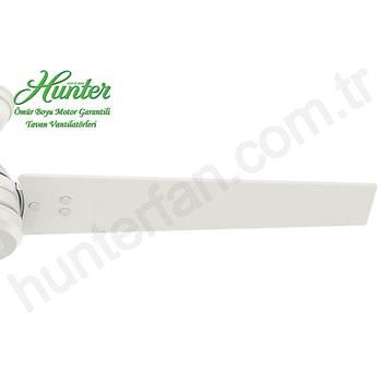 Hunter - Protos Beyaz - 132 Cm. Dýþ Mekan - Nemli Mekan Aydýnlatmalý Tavan Vantilatörü