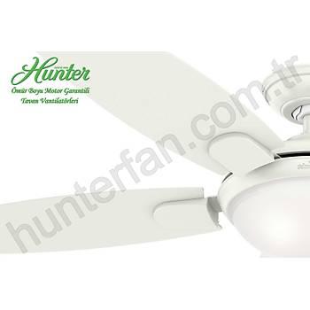 Hunter - Contempo Beyaz - 132 Cm. Aydýnlatmalý Tavan Vantilatörü