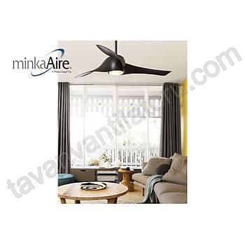 Minka Aire - Artemis Siyah - 147 Cm. Aydýnlatmalý Tavan Vantilatörü