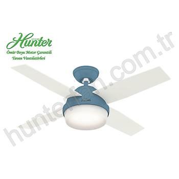Hunter - Dante Pastel Mavi - 112 Cm. Aydýnlatmalý Tavan Vantilatörü