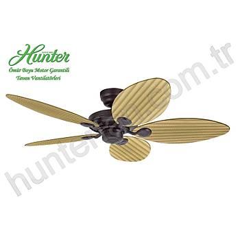 Hunter - Outdoor Elements II Çaðdaþ Bronz - 137 Cm. Sarý Renk Plastik Kanatlý Dýþ Mekan Tavan Vantilatörü