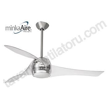Minka Aire - Artemis Transparan - 147 Cm. Aydýnlatmalý Tavan Vantilatörü