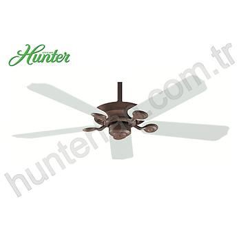 Hunter - Outdoor Elements II Eskitme Kiremit - 132 Cm. Dýþ Mekan Beyaz Renk Plastik Kanatlý Tavan Vantilatörü