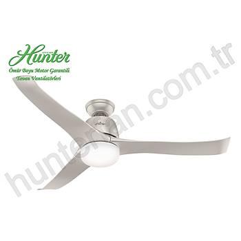 Hunter - Harmony Mat Nikel - 137 Cm. Aydýnlatmalý Tavan Vantilatörü