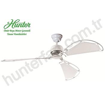 Hunter - Avalon Beyaz - 158 Cm. Bez Kanatlý Tavan Vantilatörü