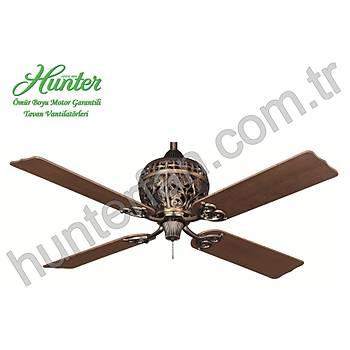 Hunter - 1886 Series Kehribar Bronz - 132 Cm. Tavan Vantilatörü