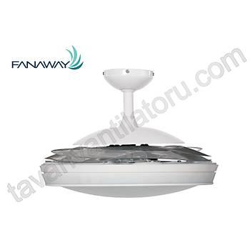 Fanaway Evo 2 Endure  Krom - 121 Cm. Aydýnlatmalý Kanatlarý Gizlenen Tavan Vantilatörü