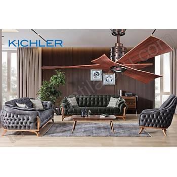 Kichler - Frey DC Fan Yaðlý Bronz - 142 Cm. Aydýnlatmalý Tavan Vantilatörü