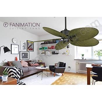 Fanimation - Islander Mat Siyah - 132 Cm. Palmiye Kanatlý Tavan Vantilatörü