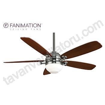 Fanimation -  The Akira Mat Nikel - 132 Cm. Aydýnlatmalý Tavan Vantilatörü