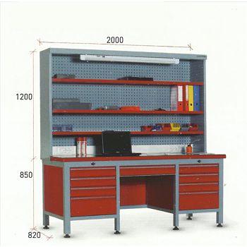 1550 Raflý panolu elektronik test masasý