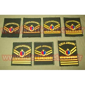 Uzman  Jandarma Rütbeleri Harici Haki Renk