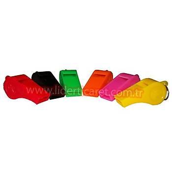Renkli Plastik Düdük