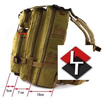 Military Tactical Küçük Boy Sýrt Çantasý [ Siyah Renk ]