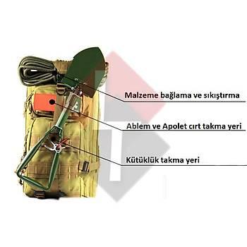 Military Tactical Sýrt ÇantasýÇanta [ Hardal Kamuflajý ]