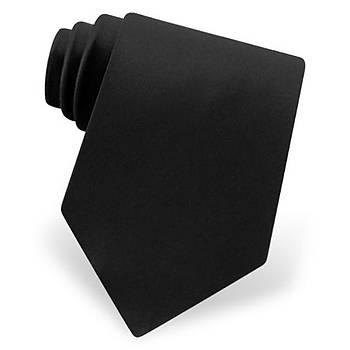 Siyah Güvenlik Kravatý Mikro Kumaþ