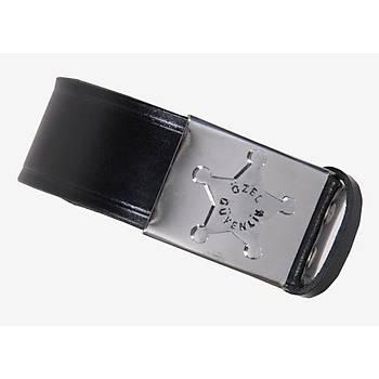 Özel Güvenlik Kemeri Hakiki Deri  ( 3,5 cm )