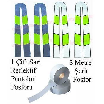 Reflektif Fosfor Sarý Renk ( 1 Çift )