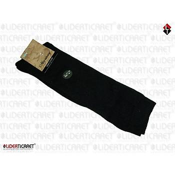 Çorap Kýþlýk Havlu Bot Tipi Uzun Konçlu Siyah Renk Asker Çorabý)