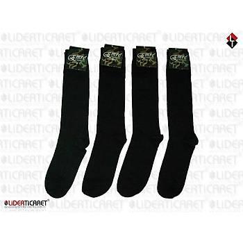 Çorap Siyah Renk Asker/ Bot Çorabý Uzun Konçlu