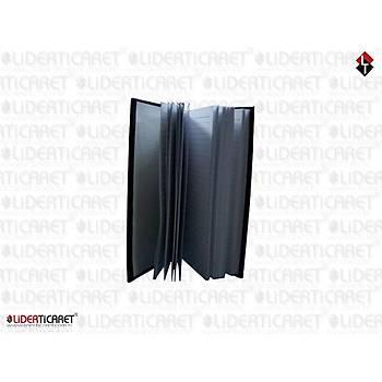 Deri Kaplý Notluk Siyah Renk
