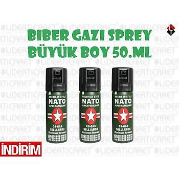 NATO Biber Gazý 50 ml. (3 Adet)