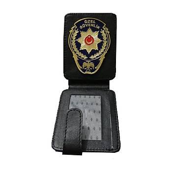 Özel Güvenlik Cüzdan & Kartlýk Suni Deri Siyah Renk