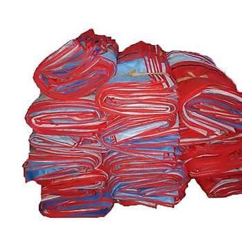 Elbise Kýrmýzý & Mavi (Jandarma Renk)Fermuarlý 60 x 90 cm Ölçülerinde