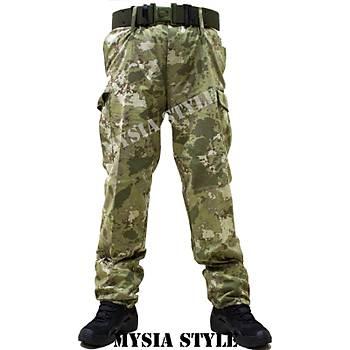 TSK Yeni Renk Yeni Kamuflaj Pantolon Yeni Renk Tek Alt (Kara Kuvvetleri Yeni Model)