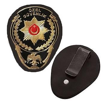 Özel Güvenlik Maþalý Bel Rozeti Yeni Model Renk; Sarý & Siyah