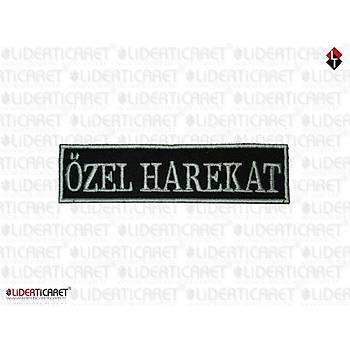 '' ÖZEL HAREKAT '' Pantolon Cep Kapaðý Yazýsý Cýrtlý Siyah/Beyaz Renk