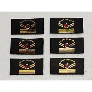 Uzman Jandarma Karargah Yelek Armasý 3,5 x 7 cm Boyutunda